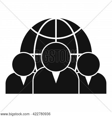 Outsource Global Team Icon. Simple Illustration Of Outsource Global Team Vector Icon For Web Design