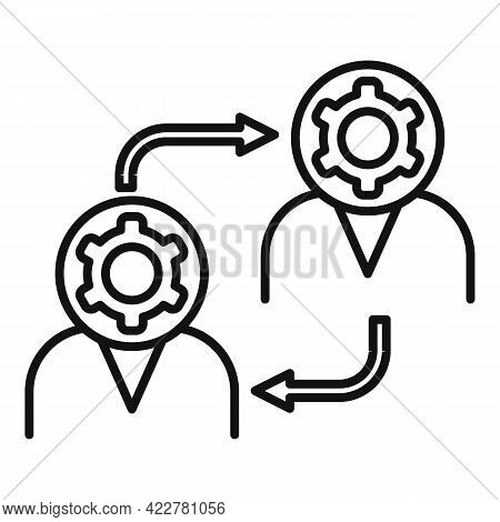 Outsource Exchange Icon. Outline Outsource Exchange Vector Icon For Web Design Isolated On White Bac