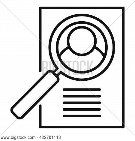 Outsource Cv Paper Icon. Outline Outsource Cv Paper Vector Icon For Web Design Isolated On White Bac