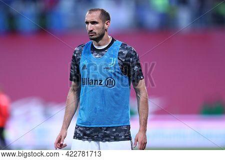 Reggio Emilia, Italy. 19th May 2021.giorgio Chiellini Of Juventus Fc  During The Timvision Italian C