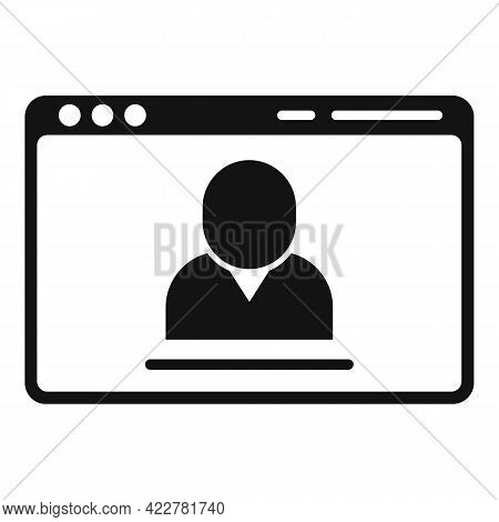 Web Site Video Call Icon. Simple Illustration Of Web Site Video Call Vector Icon For Web Design Isol