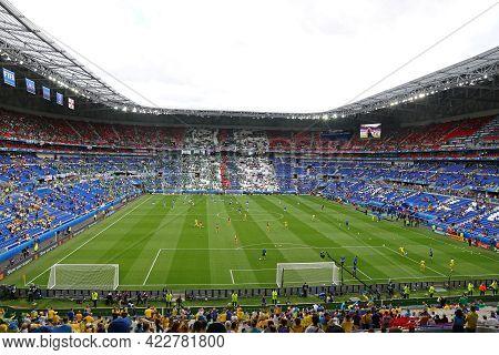 Lyon, France - June 16, 2016: Panorama Of The Stade De Lyon (parc Olympique Lyonnais Stadium Or Grou