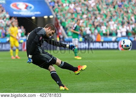 Lyon, France - June 16, 2016: Goalkeeper Michael Mcgovern Of Northern Ireland In Action During The U