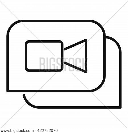 Application Video Call Icon. Outline Application Video Call Vector Icon For Web Design Isolated On W