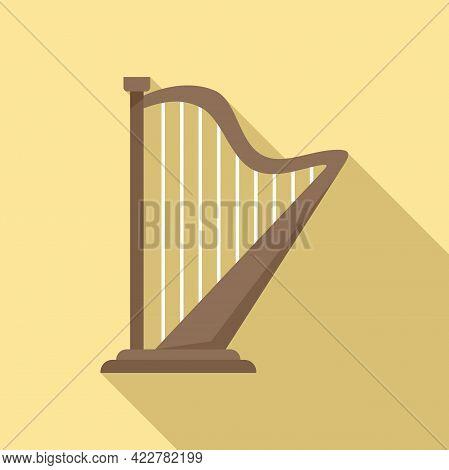 Harp Irish Icon. Flat Illustration Of Harp Irish Vector Icon For Web Design