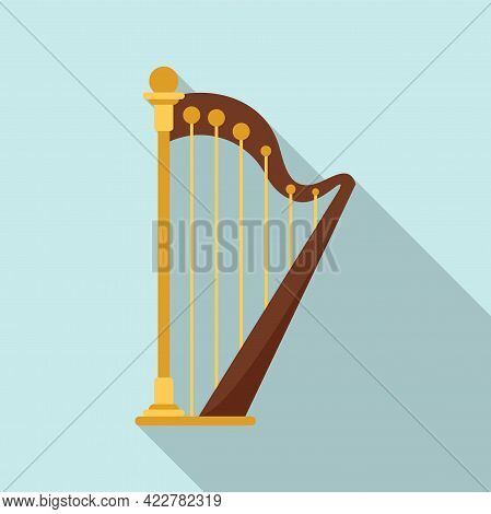 Harp Chord Icon. Flat Illustration Of Harp Chord Vector Icon For Web Design
