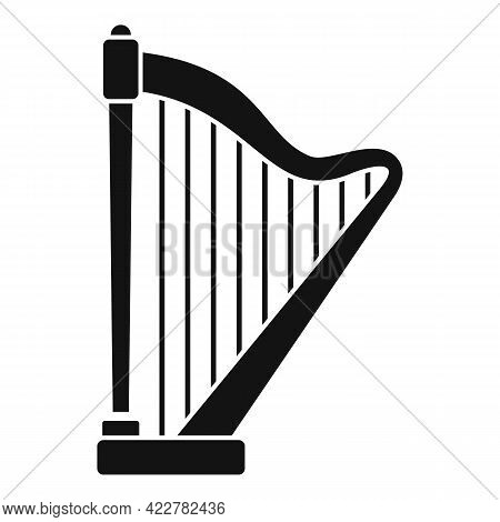 Harp Ancient Icon. Simple Illustration Of Harp Ancient Vector Icon For Web Design Isolated On White