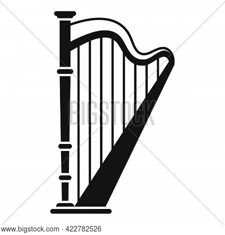 Harp Classic Icon. Simple Illustration Of Harp Classic Vector Icon For Web Design Isolated On White