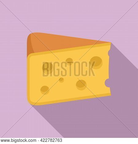 Cheese Kind Icon. Flat Illustration Of Cheese Kind Vector Icon For Web Design