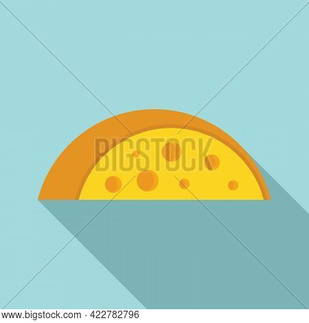Cheese Swiss Icon. Flat Illustration Of Cheese Swiss Vector Icon For Web Design