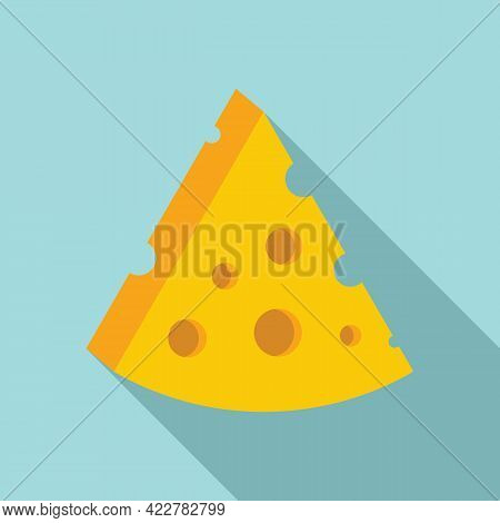 Cheese Calories Icon. Flat Illustration Of Cheese Calories Vector Icon For Web Design