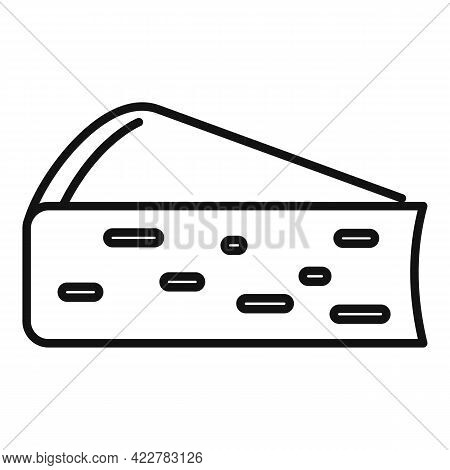 Cheese Soft Icon. Outline Cheese Soft Vector Icon For Web Design Isolated On White Background