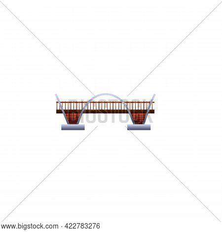 Road Bridge Icon. Cartoon Of Road Bridge Vector Icon For Web Design Isolated On White Background
