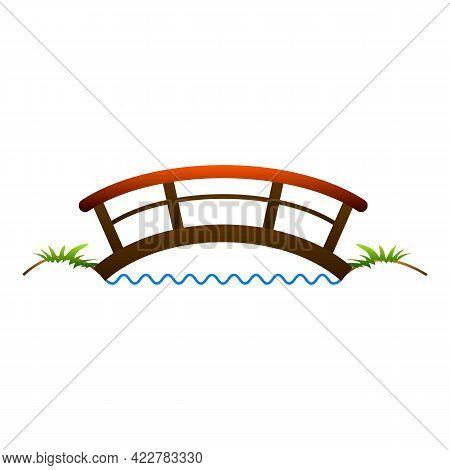 Small Bridge Icon. Cartoon Of Small Bridge Vector Icon For Web Design Isolated On White Background