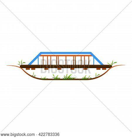 Railway Bridge Icon. Cartoon Of Railway Bridge Vector Icon For Web Design Isolated On White Backgrou