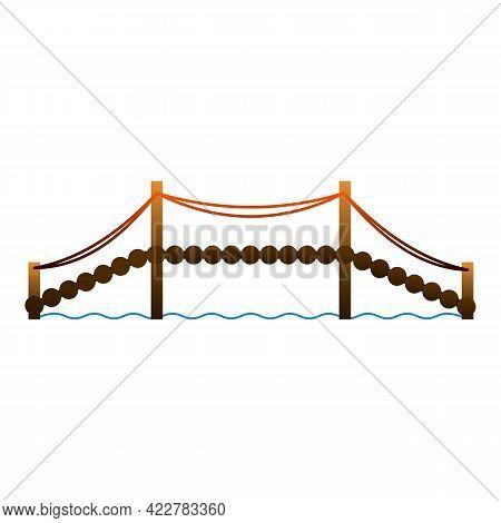 Building Bridge Icon. Cartoon Of Building Bridge Vector Icon For Web Design Isolated On White Backgr