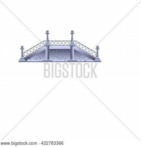 Viaduct Bridge Icon. Cartoon Of Viaduct Bridge Vector Icon For Web Design Isolated On White Backgrou