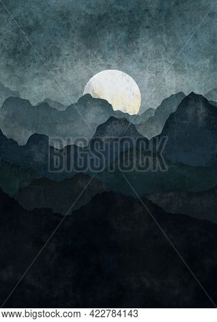 Boho Print. Abstract Mountains Background. Terracotta Poster. Abstract Arrangements. Landscapes, Mou