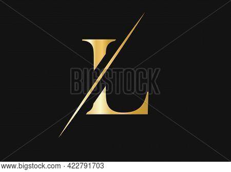 Initial  L Logo. L Logo For Luxury Fashion Branding.