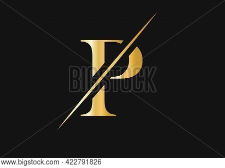 Initial  P Logo. P Logo For Luxury And Fashion Branding.