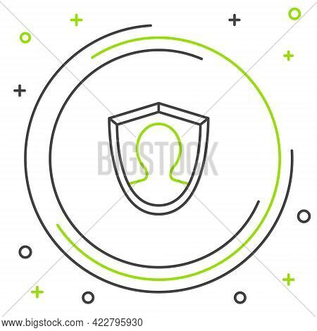 Line User Protection Icon Isolated On White Background. Secure User Login, Password Protected, Perso