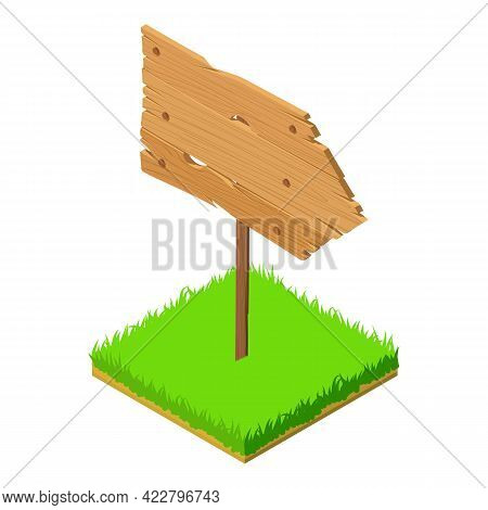 Wooden Pointer Icon. Isometric Illustration Of Wooden Pointer Vector Icon For Web