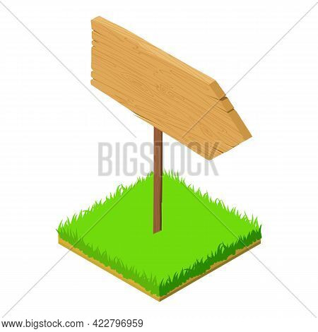 Direction Sign Icon. Isometric Illustration Of Direction Sign Vector Icon For Web