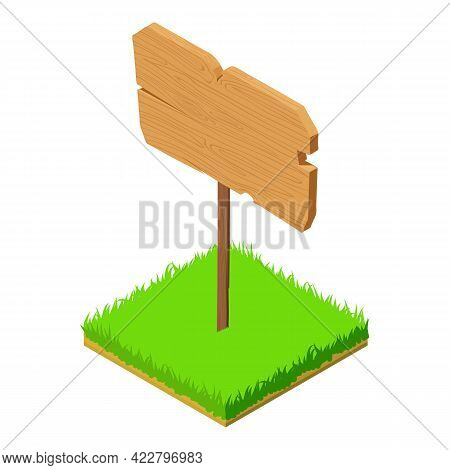 Signpost Icon. Isometric Illustration Of Signpost Vector Icon For Web