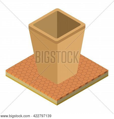 Waste Container Icon. Isometric Illustration Of Waste Container Vector Icon For Web
