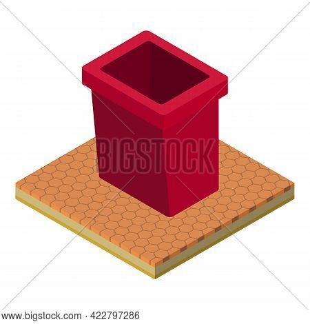 Dumpster Icon. Isometric Illustration Of Dumpster Vector Icon For Web