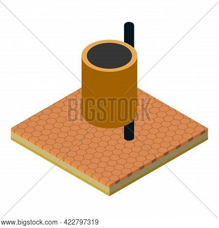 Dustbin Icon. Isometric Illustration Of Dustbin Vector Icon For Web