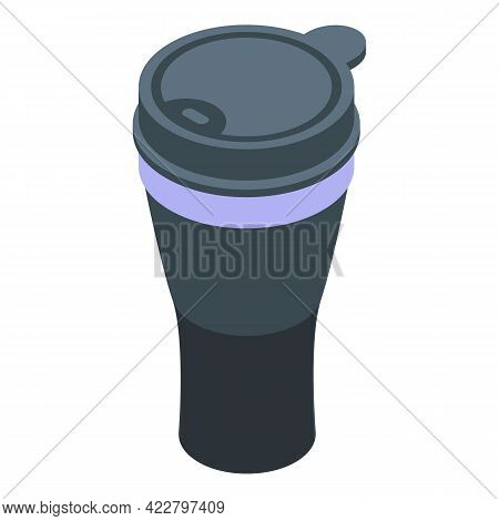 Thermo Cup Icon. Isometric Of Thermo Cup Vector Icon For Web Design Isolated On White Background