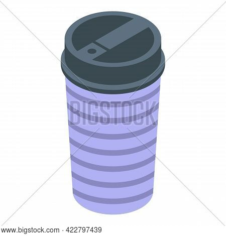 Beverage Thermo Cup Icon. Isometric Of Beverage Thermo Cup Vector Icon For Web Design Isolated On Wh