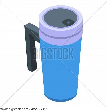 Container Thermo Cup Icon. Isometric Of Container Thermo Cup Vector Icon For Web Design Isolated On