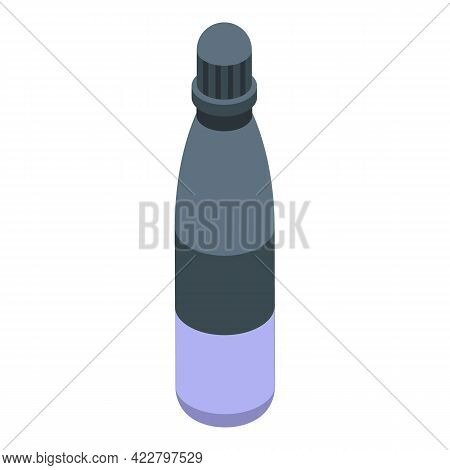 Flask Thermo Cup Icon. Isometric Of Flask Thermo Cup Vector Icon For Web Design Isolated On White Ba