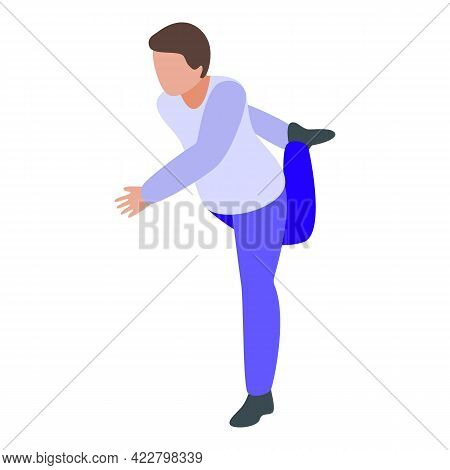 Man Stretching Icon. Isometric Of Man Stretching Vector Icon For Web Design Isolated On White Backgr