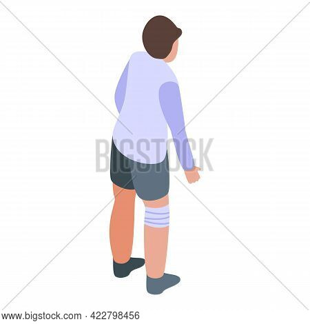 Arthritis Boy Knee Icon. Isometric Of Arthritis Boy Knee Vector Icon For Web Design Isolated On Whit