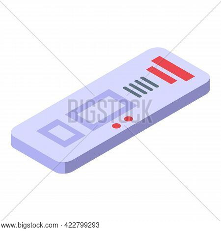 Covid Test Antigen Icon. Isometric Of Covid Test Antigen Vector Icon For Web Design Isolated On Whit