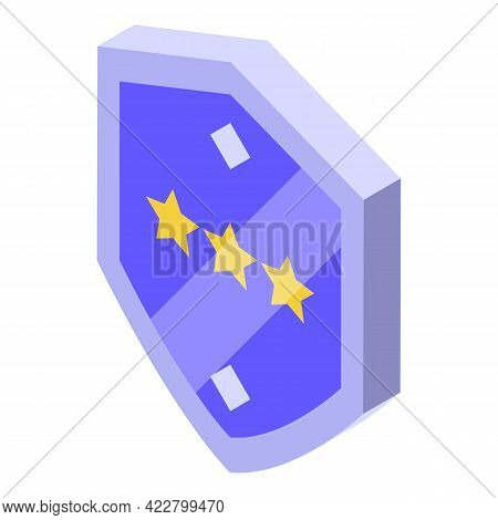 Ranking Shield Icon. Isometric Of Ranking Shield Vector Icon For Web Design Isolated On White Backgr