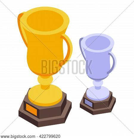 Ranking Cups Icon. Isometric Of Ranking Cups Vector Icon For Web Design Isolated On White Background