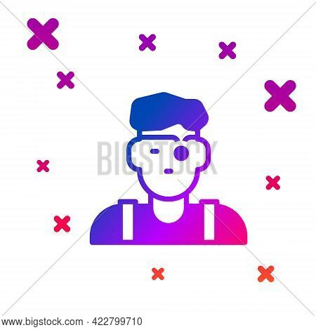 Color Jeweler Man Icon Isolated On White Background. Gradient Random Dynamic Shapes. Vector