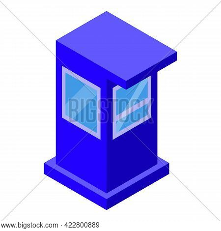 Paid Parking Control Icon. Isometric Of Paid Parking Control Vector Icon For Web Design Isolated On