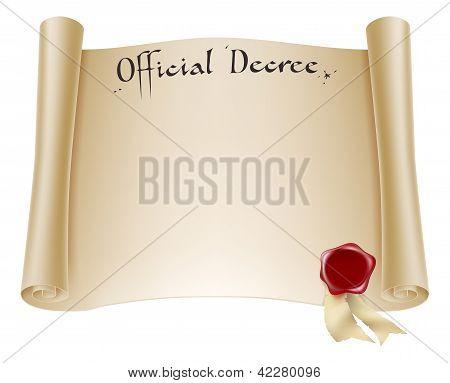 Certificado oficial de papel