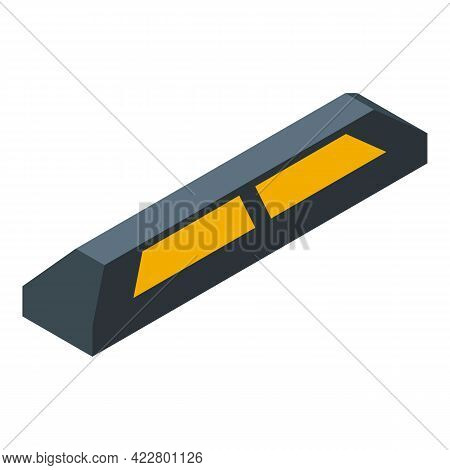 Paid Parking Limiter Icon. Isometric Of Paid Parking Limiter Vector Icon For Web Design Isolated On