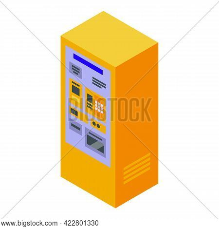 Paid Parking Equipment Icon. Isometric Of Paid Parking Equipment Vector Icon For Web Design Isolated