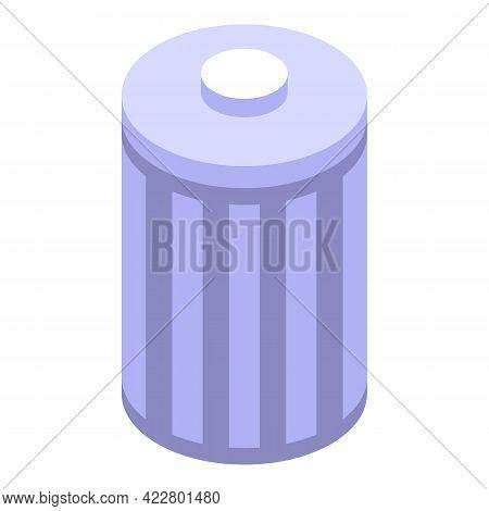 Delete User Recycle Bin Icon. Isometric Of Delete User Recycle Bin Vector Icon For Web Design Isolat