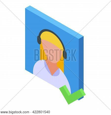 Delete User Approved Icon. Isometric Of Delete User Approved Vector Icon For Web Design Isolated On