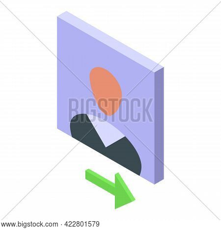 Delete User Find Icon. Isometric Of Delete User Find Vector Icon For Web Design Isolated On White Ba