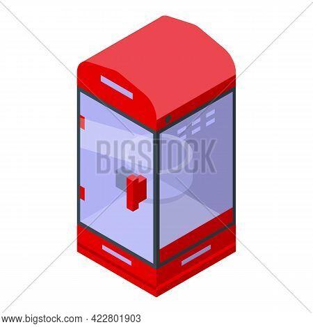 Clean Popcorn Maker Machine Icon. Isometric Of Clean Popcorn Maker Machine Vector Icon For Web Desig