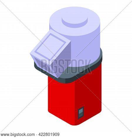 Mobile Popcorn Maker Machine Icon. Isometric Of Mobile Popcorn Maker Machine Vector Icon For Web Des